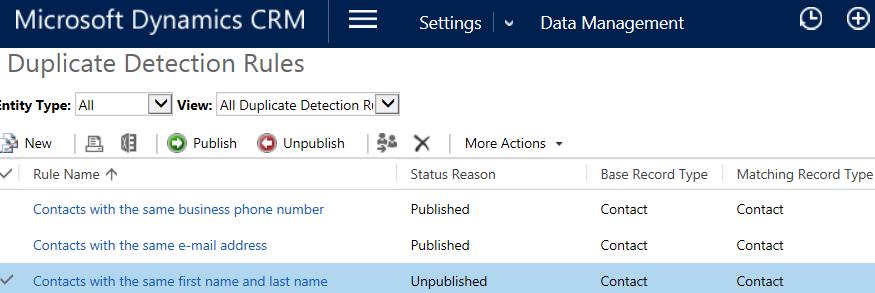 Retrieve Duplicate Detection Rules using CRM SDK   HIMBAP