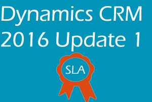 SLA enhancement in Dynamics CRM 2016 Update 1 Part 1