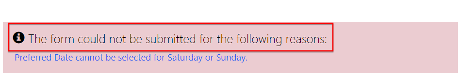 """Change """"The form could not be submitted  """" message in Dynamics 365"""